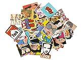 Smartkey Vinyl Sticker farbig mit diversen Comic, Brands, etc. Motiven, Menge: 52 Stück