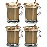 Conjunto de 4aroma Latte Gafas Claro 385ml caliente irlandés tazas de té de café tazas