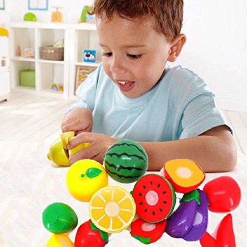 Malloom® 1Set Frutta Cucina Giocattolo Per Bambini Di Plastica Giocattoli Educativi Kit Da Cucina Per Il Fai Da Te