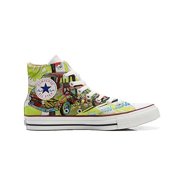 Converse Personalizados All Star Customized – Zapatos Personalizados (Producto Artesano) Paz y Amor