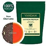 Tè allo zafferano Masala Chai Imperial (40 tazze), tè nero Assam miscelato con 100% zafferano originale Kashmiri, cardamomo, cannella, chiodi di garofano e pepe nero, 100g