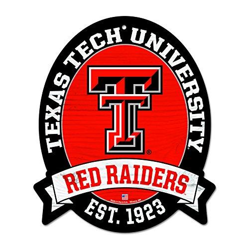 Wincraft FGCSports Straßenschild Texas Tech Red Raiders, 11 x 13 cm -