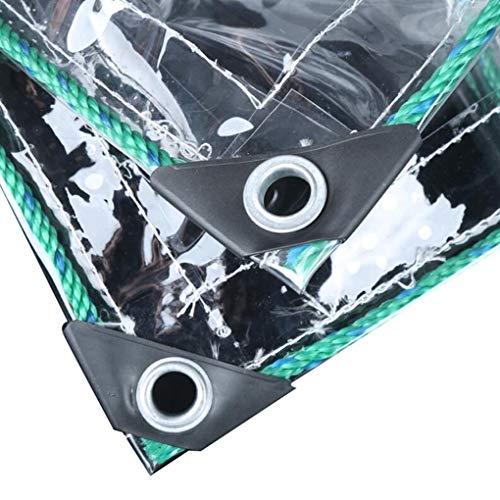 AOHMG Verdicken Sie Transparente Plane Abdeckplane Schwer Wasserdicht, 32 Mil Reversible Poly Tarp Zeltabdeckung verstärkt langlebig, ReißFest UV-stabilisiert Wasserdicht,6x4.5ft/2x1.5m -