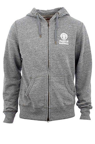 Franklin-Marshall-Mens-Sweatshirt-With-Zip-and-Hood-Sports-Grey-Mel