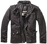 Brandit Hombres Britannia Winter Chaqueta Negro tamaño XL