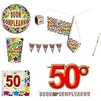 Amazon It 50 Anni Di Compleanno Stoviglie Articoli Per Feste E