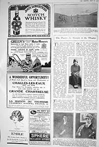 1923 TRECCIA ADVERITSEMENT DI DOROTHY MINTO JAMES DEL TEATRO DELLE MOTOFALCIATRICI DEL WHISKEY SCOZZESE