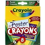 Poster Crayons 8/Pkg-