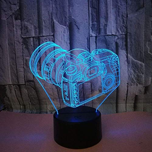 3D Kamera Lampe USB Power 7 Farben Amazing Optical Illusion 3D LED Lampe Formen Kinder Schlafzimmer Nacht Licht