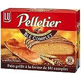Lu pelletier pain grillé 24 tranches au blé complet 500g - ( Prix Unitaire ) - Envoi Rapide Et Soignée