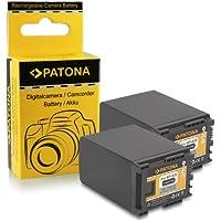 2x Bateria BP-828 para Canon HF-G30 | Canon XA20 | Canon XA25 | LEGRIA HF G30 | G25 | G20 | G10 | M30 | M31 | M32 | M40 | M41 | M300 | M301 | M400 | S10 | S11 | S1400