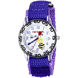 Red Balloon Kids' W001476 Plastic Analog Display Quartz Purple Nylon Strap Watch