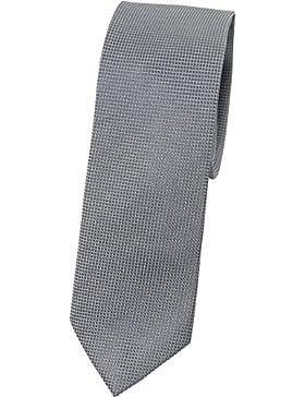 bugatti Seidenkrawatte grau TIE 7cm slimfit