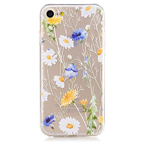 Coque iPhone 6 6s Housse étui-Case Transparent Liquid Crystal Mandala en TPU Silicone Clair,Protection Ultra Mince Premium,Coque Prime pour iPhone 6 6s-Licorne Fleur