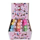 TE-Trend 24 Stück Hello Kitty Motivo Modelo Huevos Figuras COLECCIONABLES Figuras Colección Niñas Niños Regalo
