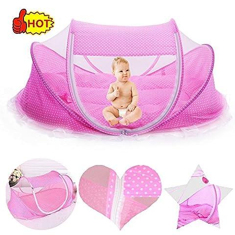 smelov faltbar Baby Travel Krippe mit Moskitonetz nicht installiert benötigen, Baby Reisebett tragbar Baby Kinderbett Moskitonetz tragbar Babybetten für 0–3Jahre Baby