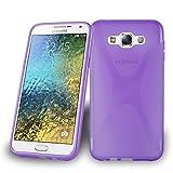 Cadorabo Silikon Hülle für Samsung Galaxy E7 in Flieder Violett