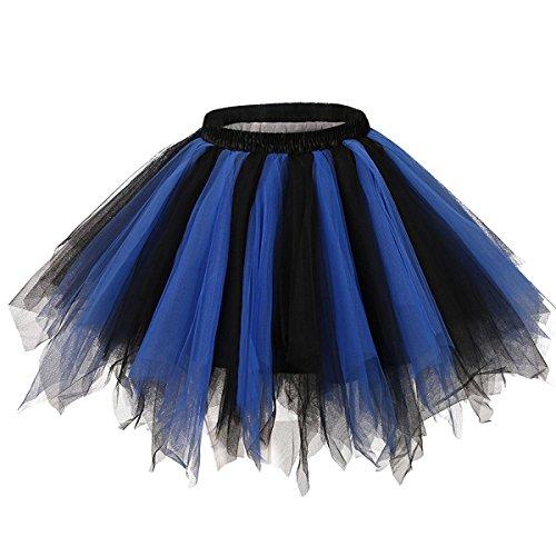 euheiten Tutu Unterkleid Rock Ballet Petticoat Abschlussball Tanz Party Tutu Rock Abend Gelegenheit Zubehör Rötlich-Blau und Schwarz (Adult Baby Blau Baby Kostüme)