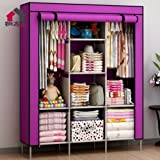 #5: Orril 66inch Portable Wardrobe Cabinet Collapsible Clothes Storage Rack DIY ! random color. will deliver as per availability!