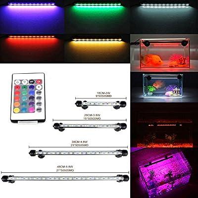 DOCEAN GreenSun Aquarium Light RGB Remote Colour Changing LED Fish Tank Light from Vivexotic