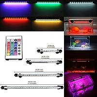 GreenSun 28CM Aquarium Tube Luminaires D'éclairage étanche IP68 Fish Tank RGB 16 Couleur Lumière Submersible