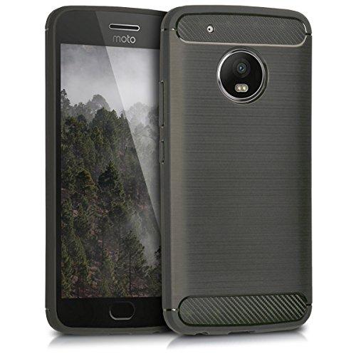 kwmobile Motorola Moto G5 Plus Hülle - Handyhülle für Motorola Moto G5 Plus - Handy Case in Anthrazit