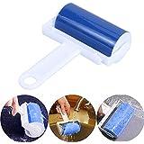 Rouleaux Brosse adhésive lavable Réutilisable brosse adhésive pour poils d'animaux vêtements Outils d'essuie-glace - Bleu