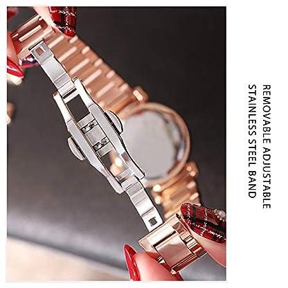 RORIOS-Fashion-DamenFrauen-Analog-Quarzuhr-Armbanduhren-Armband-Edelstahl-Sternenklarer-Himmel-Dial-Wasserdichte-Armbanduhr