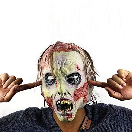 Maskerade Kostüm Beängstigend - ZXIU Masken für Kostüme Maskerade Masken Beängstigend Adult Latex Creepy Party Scary Mask Kostüm
