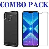 AONIR Combo Offer - Tempered Glass & Zebra Back Cover_Premium Quality Screen Guard And Soft Case Cover For Huawei Honor 8X
