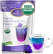 Butterfly Pea Flower Tea, Ideal for 500 cups or more ( 3.5Oz/ 100 g.) Premium Organic Dried Butterfly Pea Flow