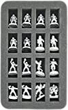HS035BB01 35 mm (1.38 Inch) half-size foam tray for 16 Blood Bowl miniatures