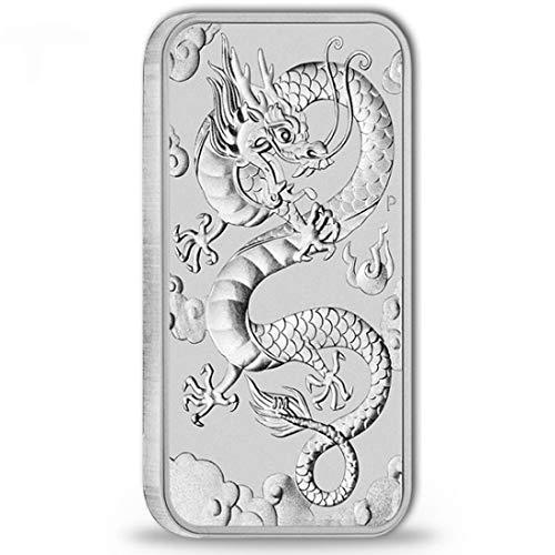 1 Unze Drache Rectangular 2019 Silber 1 oz Silberbarren gebraucht kaufen  Wird an jeden Ort in Deutschland