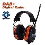 Protear Ear Defender mit Bluetooth und Radio DAB / DAB + FM, wiederaufladbare Rauschunterdrückung Kopfhörer für Arbeiten und Industrie, SNR 30dB