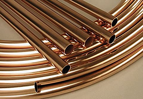 SWEET HOUSE Copper Microbore 8mm-10mm-15mm-22mm Copper Pipe Tube - ALL Lengths Available