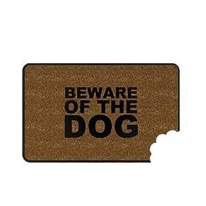 CKB Ltd Novelty Beware of Dog Novelty Outdoor Front Doormat Paillassons