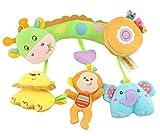 FYX Baby Spielzeug zum Aufhängen für Autositz Gitterbett Kinderwagenkette (Waldtiere-Serie)