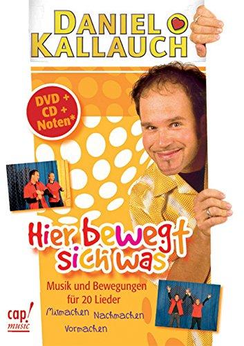 Hier bewegt sich was (DVD/CD-Paket): Musik und Bewegungen für 20 Lieder (Livre en allemand)