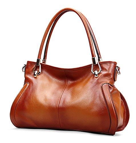 SAIERLONG Damen Europäischen Und Amerikanischen Stil Rot-braun Erste Schicht Aus Leder Handtaschen Damenhandtaschen Umhängetaschen Schultertaschen Rot-braun