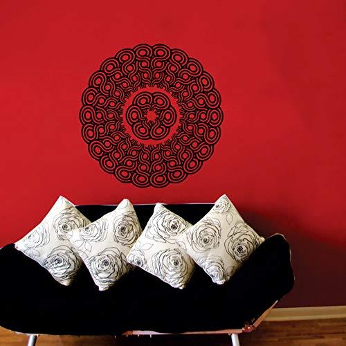 Heißer verkauf mandala blume gemusterte wandaufkleber tapete wohnkultur special art dekoration vinyl yoga wandbilder aufkleber wm 84x84 cm