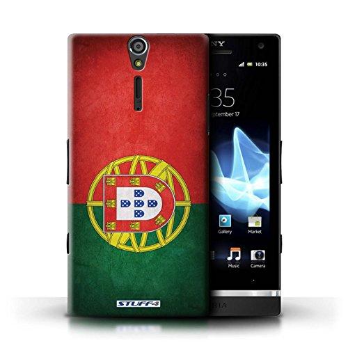 Kobalt® Imprimé Etui / Coque pour Sony Xperia S/LT26i / Jamaïque/jamaïcain conception / Série Drapeau Portugal/portugais
