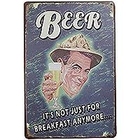 VORCOOL Vino birra bevande Vintage Metal Sign Tin Poster Pub Bar Cafe Shop