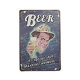 Tinksky Boutique de Vin Bière Boissons Vintage Métal Signe Tin Affiche Pub Bar Cafe