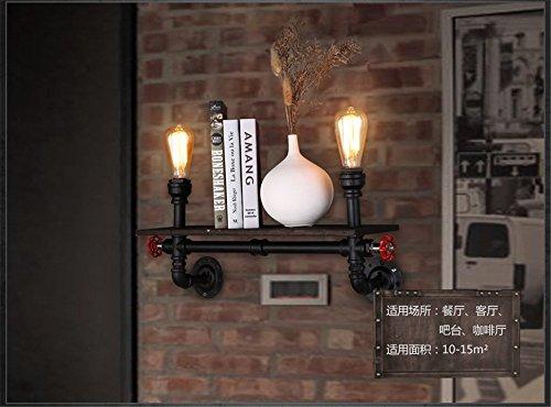 BOOTU LED Wandleuchte nach oben und unten Wandleuchten Loft retro industrielle Restaurant Bar Lounge mit Bibliothek Regal kunst Leitung Wandleuchte - Bibliothek Regale