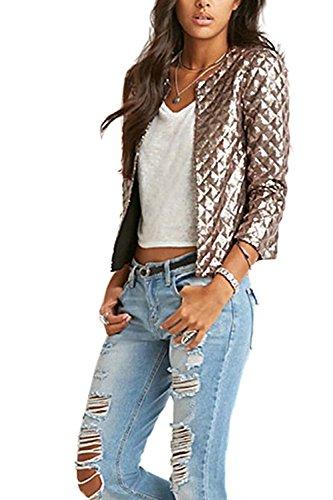 Die Frauen So Lange Ärmel Anzüge - Mantel Jacken Blazer Outwear Golden XL (Goldene Ärmel Lange)