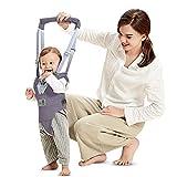 Arnés de Seguridad para Caminar Ajustable Arnés de Bebe a Pie de Caminado Aprendizaje Chaleco Arneses para Niños Andador Arnés Tirantes Con Correa y Hebilla de Bebé Protección 8-24 meses, Gris