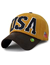 LOCOMO Unisex US Country Flag New York Patriot Snapback Cap FFH320BLK