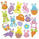 Baker Ross Adesivi con Coniglietti di Pasqua per Bambini Ideali per Decorare e Personalizzare Creazioni Fai da Te e Bigliettini - Decorazioni per Album per Bambini (Confezione da 128)
