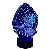 Schädel Kopf 3D Licht Bunte Touch LED Licht Kreative Geschenk Nachtlicht Personalisierte Nachtlicht