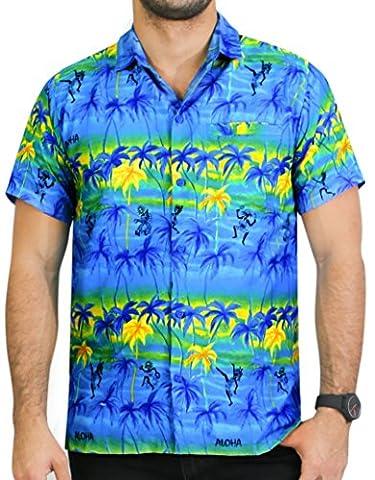 La Leela Karibik gedruckt Hawaiihemd XL